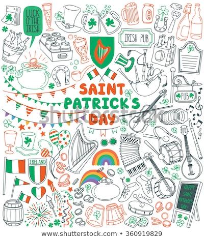 Sketch set for Saint Patricks Day Stock photo © netkov1