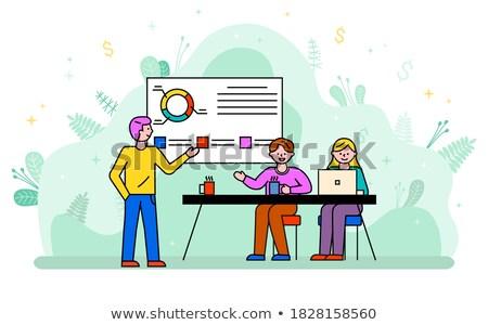 человека данные диаграммы совета бизнеса Consulting Сток-фото © robuart