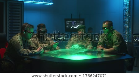 Military soldier drone and man Stock photo © jossdiim