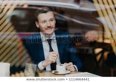 Optimista alegre jóvenes empresario ropa Foto stock © vkstudio