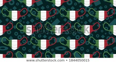 Chirurgisch masker vlag Italië man Stockfoto © nito