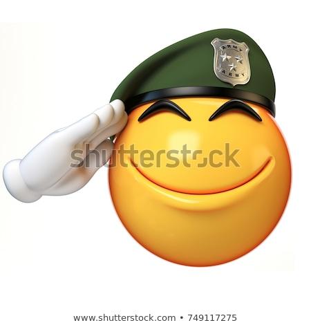 Asker ifade evet gülümseme adam Stok fotoğraf © yayayoyo