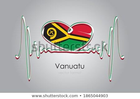 Bandeira Vanuatu forma coração amor Foto stock © butenkow
