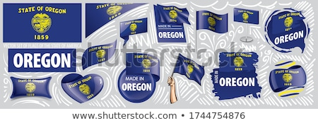 Vector set of flags of the American state of Oregon in different designs Stock photo © butenkow