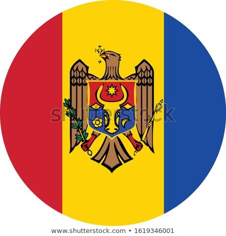 Moldova bandiera bianco sfondo onda vento Foto d'archivio © butenkow