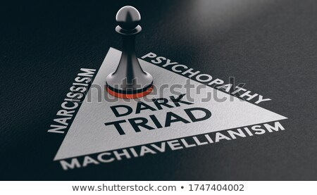Psychology concept. Dark triad, anti-social personality traits. Stock photo © olivier_le_moal