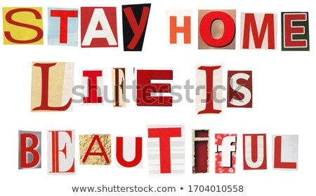 滞在 ホーム 生活 美しい 文字 新聞 ストックフォト © Taigi