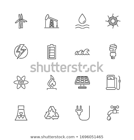 gas supply station icon vector outline illustration Stock photo © pikepicture