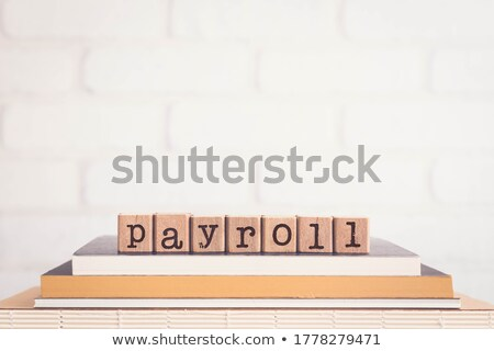 The word PAYROLL and blank space background, vintage. Stock photo © vinnstock