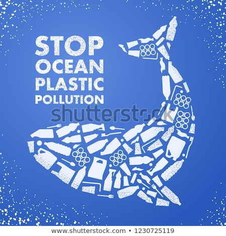 Plastikowe zanieczyszczenia streszczenie ocean środowiskowy zmiany klimatyczne Zdjęcia stock © RAStudio