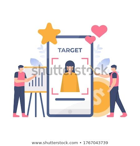 Target publiek landing pagina klant aantrekkelijkheid Stockfoto © RAStudio