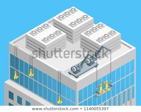 Window Washer Isometric Icon Vector Illustration Stock photo © pikepicture
