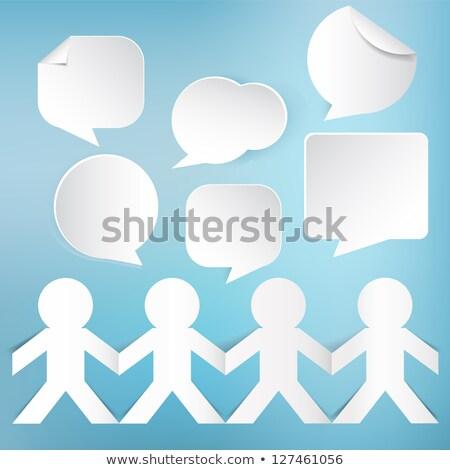 бумаги · человека · данные · пузыря · белый · бизнеса - Сток-фото © kbuntu