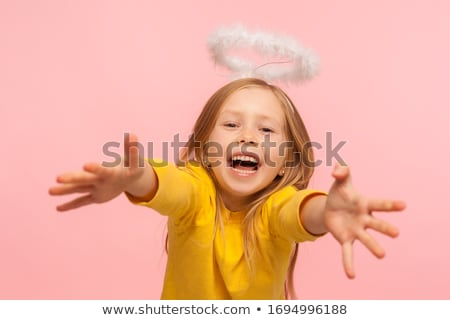 Little girl screaming, stretched hands Stock photo © Paha_L