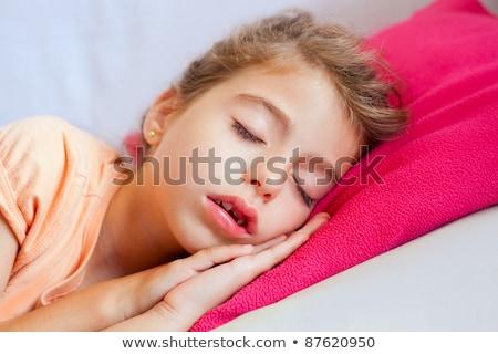 profundo · dormir · foto · belo · mulher · grávida · adormecido - foto stock © lunamarina