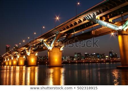 橋 1泊 川 ソウル 水 旅行 ストックフォト © dsmsoft