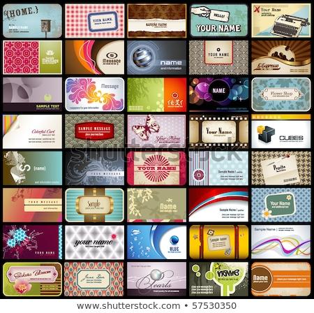 Stok fotoğraf: Variety Business Cards Template For Restaurant