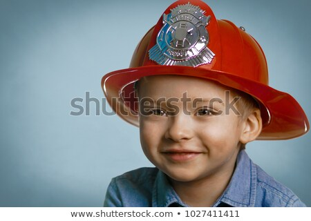 Young boy with helmet Stock photo © ivonnewierink