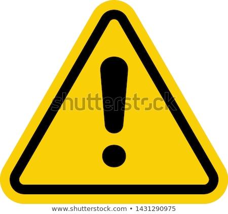 Amarillo vector precaución signos blanco hielo Foto stock © olira