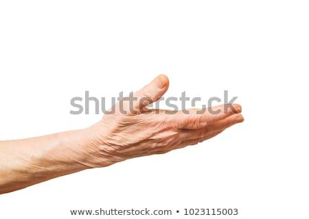 Zárt öreg kezek közelkép ráncos paraszt Stock fotó © courtyardpix