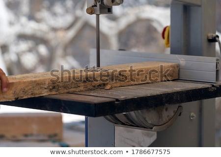 Charpentier bande vu homme bois construction Photo stock © photography33