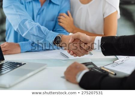 бизнесмен · приветствие · клиент · стороны · улыбка · счастливым - Сток-фото © photography33