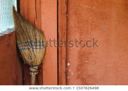 kırmızı · kapı · gri · duvar - stok fotoğraf © taigi
