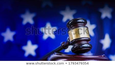 avocat · marteau · isolé · blanche · argent - photo stock © broker