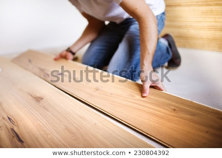 man laying a new parquet stock photo © photography33
