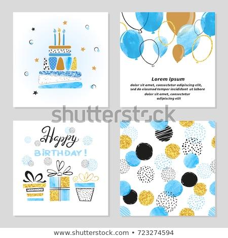 abstract golden birthday card background vector illustration, Birthday card