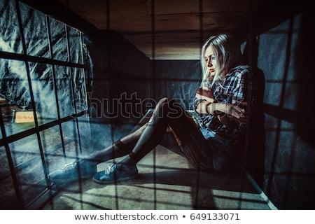 genç · seksi · bayan · beyaz · güzel · kadın - stok fotoğraf © acidgrey