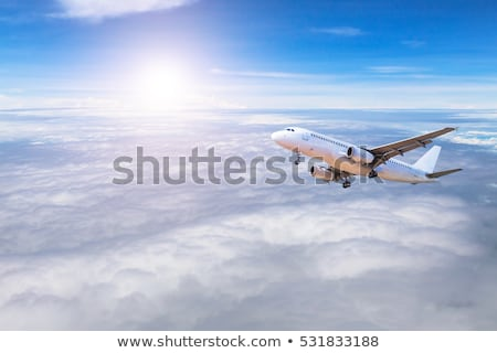 airplane in the sky landing away Stock photo © ssuaphoto