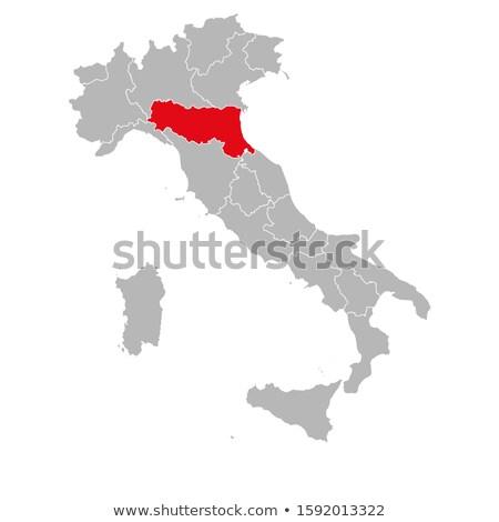 Map of Emilia-Romagna (Italy) Stock photo © Schwabenblitz