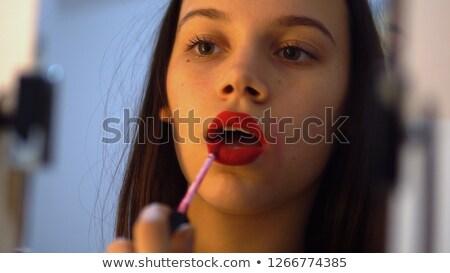 studio · portret · meisje · vreugde - stockfoto © aetb