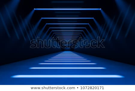 Uzun mavi koridor Stok fotoğraf © aetb