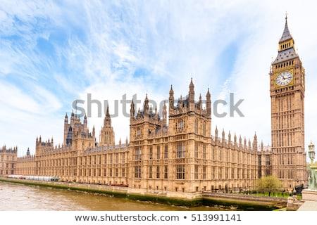 inglês · casas · vermelho · tijolo · parede - foto stock © trgowanlock