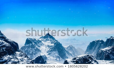 blue sky and winter mountains stock photo © bsani