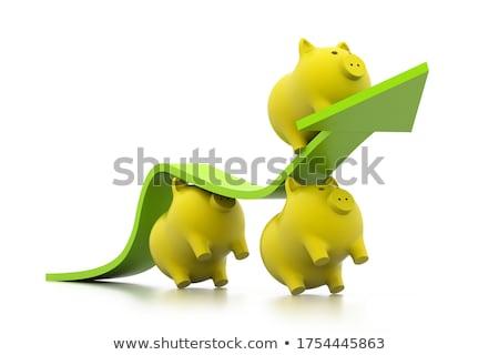 3D · varkens · klim · business · pijl · man - stockfoto © 4designersart