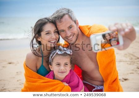 Quadro telefone móvel foco tela Foto stock © dacasdo