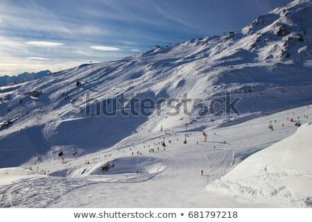 sí · üdülőhely · gleccser · Ausztria · tél · tájkép - stock fotó © macsim