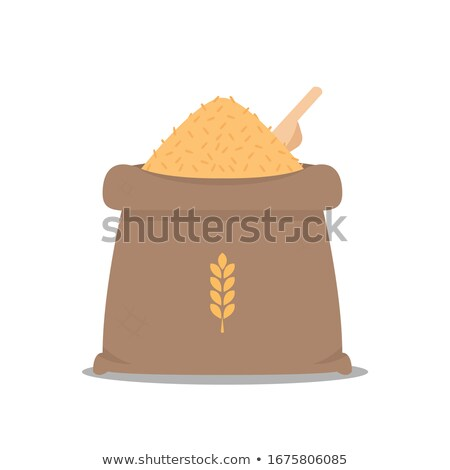marrom · arroz · colher · de · chá · chinês · colher - foto stock © kbuntu