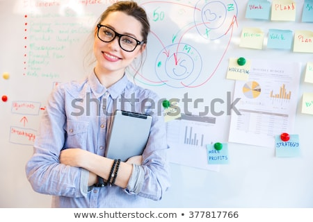Jovem professor feminino lousa sorridente Foto stock © Lighthunter
