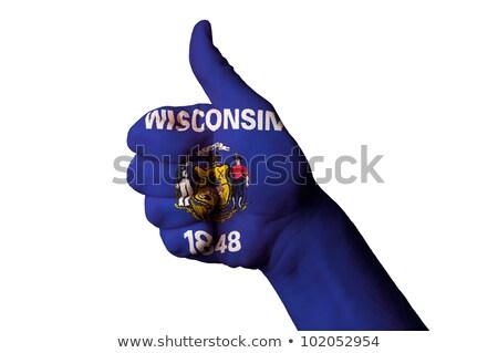 Wisconsin pavillon pouce up geste excellence Photo stock © vepar5