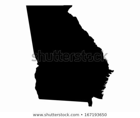 Black Georgia map Stock photo © Volina