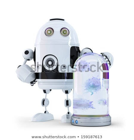 Robot and viruses caught in the container. Stock photo © Kirill_M