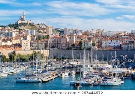 Harbour - Vieux Port of Marseille Stock photo © dinozzaver