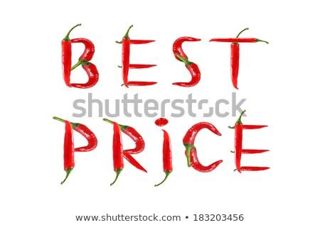 caliente · escrito · rojo · pequeño · frescos - foto stock © raphotos