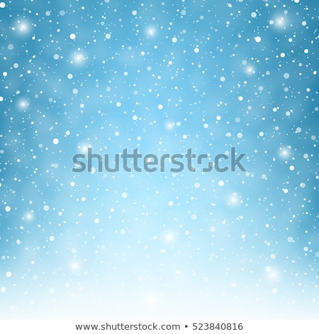 snowflake in blue snow stock photo © nneirda