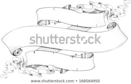 リボン バナー スタイル 孤立した 白 デザイン ストックフォト © sharpner