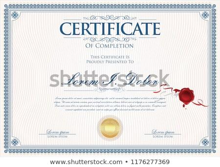 Diploma bizonyítvány üzlet papír keret pénzügy Stock fotó © balasoiu